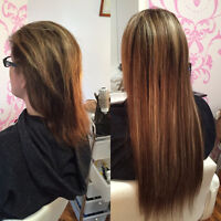 Excellent Hair Extension installation - I come to you