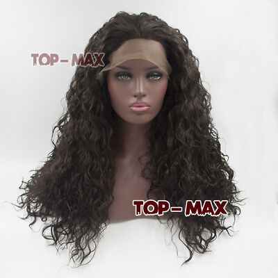 ana Braun Lang Curly Haar Lace Front Wig Halloween Perücke  (Halloween-perücke Lang Braun)