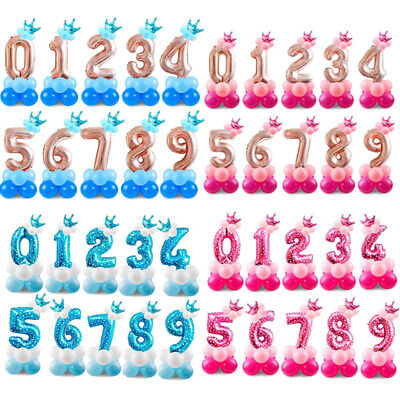 Number 1 Balloons (1st Birthday Balloons Number Foil Baby Shower Favor Party Wedding Supplies 32