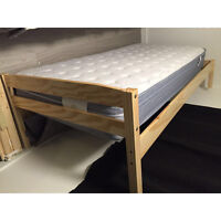Selling a twin size mattress with wooden frame from JYSK. Urgent