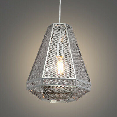 Modern Kitchen Pendant Light Fixture with Metal Mesh Lamp Shade Ceiling -