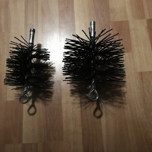 TWO NEW CHIMNEY CLEANING BRUSHES