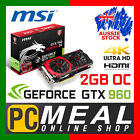 NVIDIA GeForce GTX 960 MSI Computer Graphics & Video Cards