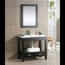 BNIB Black Timber look Vanity with mirror Terrigal Gosford Area Preview