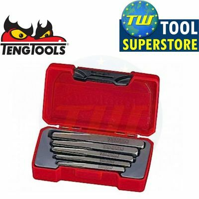 Teng Tools TMSE05S 5pc Screw Bolt Stud Extractor Set 3 4 5 7 9mm Holes in Case