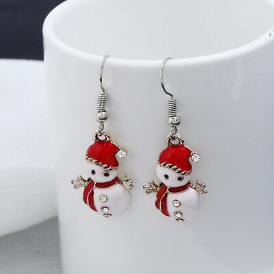 Fashion Jewelry Christmas Snowman Earrings Women Dangle Earrings New Year Gift