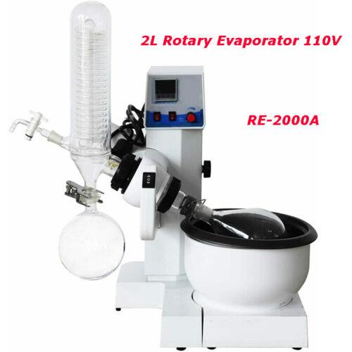 Techtongda RE-2000A Digital Display Rotary Evaporator Lab Evaporators 110V 2L