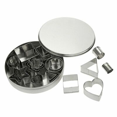 Cookie Cutter Set 24PC Mini Stainless Steel Biscuit Cutters Various Shapes