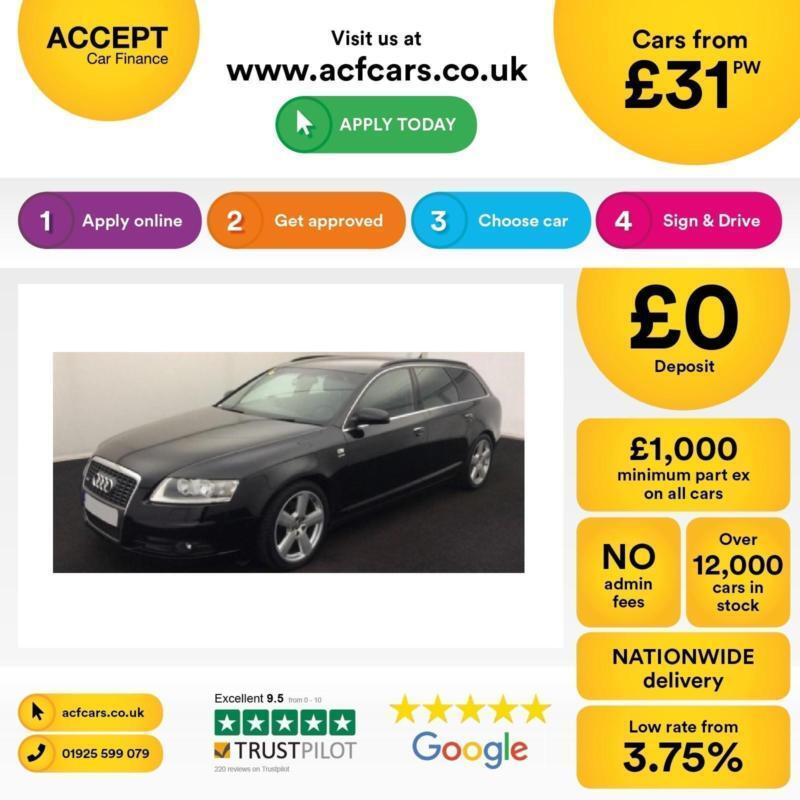 Audi A6 Avant 2.0TDI CVT 2008MY S Line FROM £31 PER WEEK !