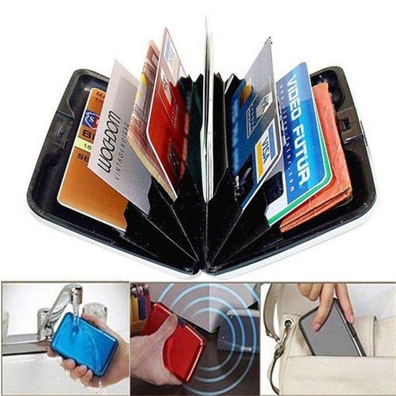 Metal Aluminum Wallet RFID Blocking Crash Proof Credit Card