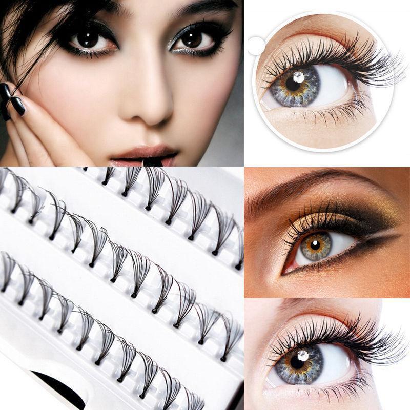 8101214mm Curl Natural Individual Cluster Eyelash False Eyelashes