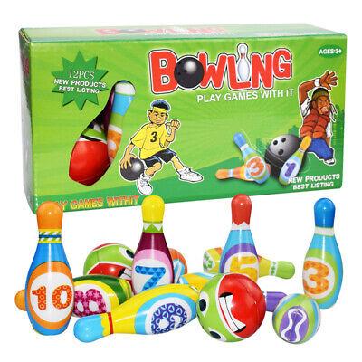 12pcs/set Kids Bowling Play Set Toys for 2,3,4,5 Year Old Bo