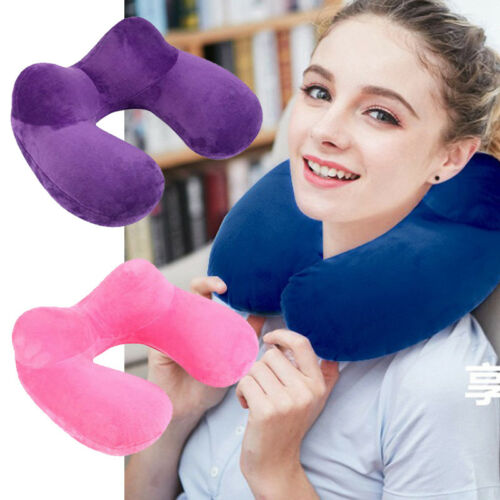 U-Shape Inflatable Daydreamer Neck Head Rest Pillow w/ Airplane Travel GW