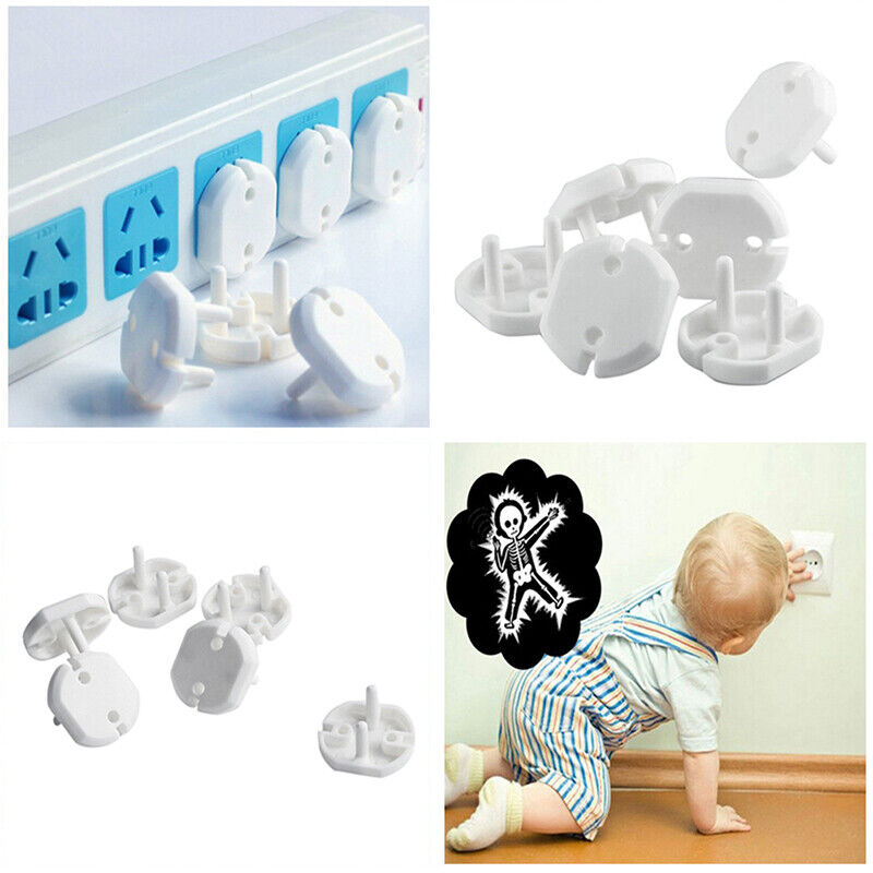 10pcs EU Electrical Outlet Baby Kids Child Safety Guard Protection Shock Pl QA