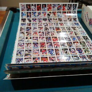 O-Pee-Chee Uncut hockey card sheets
