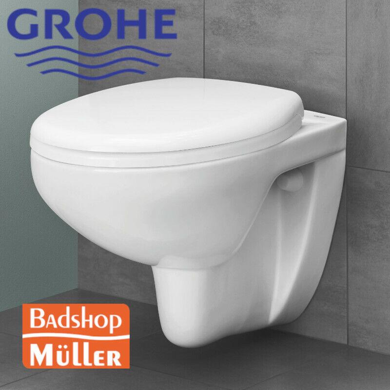 GROHE Bau Keramik Spülrandloses Wand Hänge WC Toilette Bad Rimfree, ohne Deckel