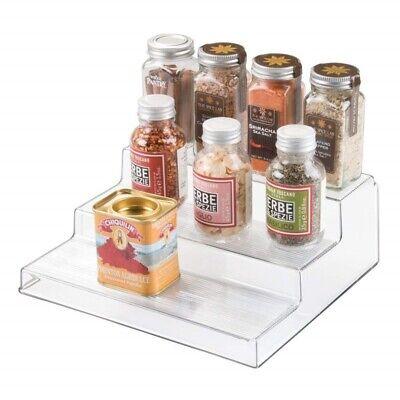 InterDesign Linus Cabinet Rack Organizer 3tier Clear Counter