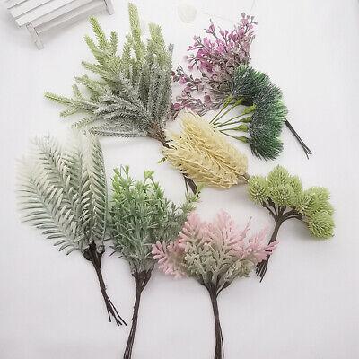 White Fake Flowers (Plastic Artificial Flowers Plants Fake Grass White Tone Branch Decor)