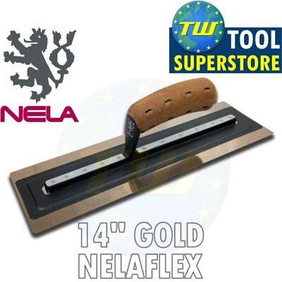"NELA 14"" NelaFLEX II Gold Trowel Premium Plastering Trowels 14x4.3in 10883511BK"