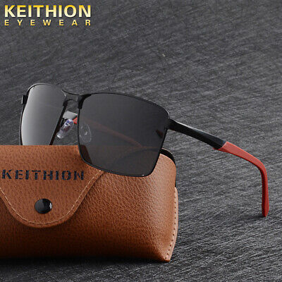 - KEITHION Mens Polarezed Sunglasses Square Alloy Frame Outdoor Driving Glasses