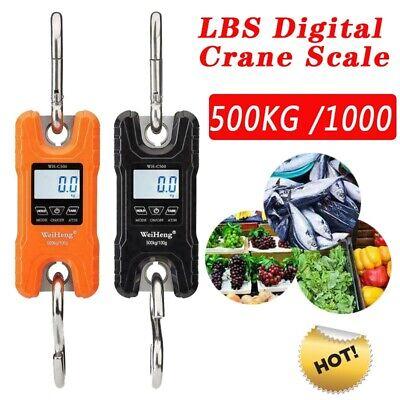 500kg 100g Digital Crane Scale Heavy Duty Industrial Hanging Scale Portable