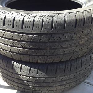 (2) 225/65R17 Summer Tires, Cargo and Winter Matts