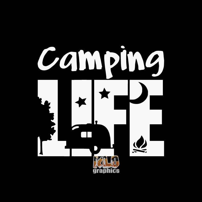 Home Decoration - CAMPING LIFE vinyl sticker decal LOVE Travel OUTDOORS RV GLAMPING