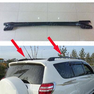 1set Car Black Roof Rack Rail Luggage Carrier Bars For Toyota Rav4 2006-2012 diy