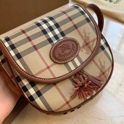 Burberry vintage tassel saddle bag size s