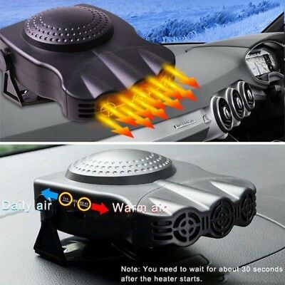 - US Portable Car Heater Heating Cooling Fan 12V 150W Electric Air Conditioner Hot