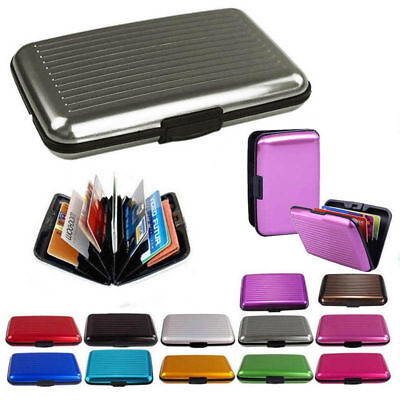 Aluminum Business Card Holder - Waterproof Business ID Credit Card Wallet Aluminum Metal Holder Pocket Case Box