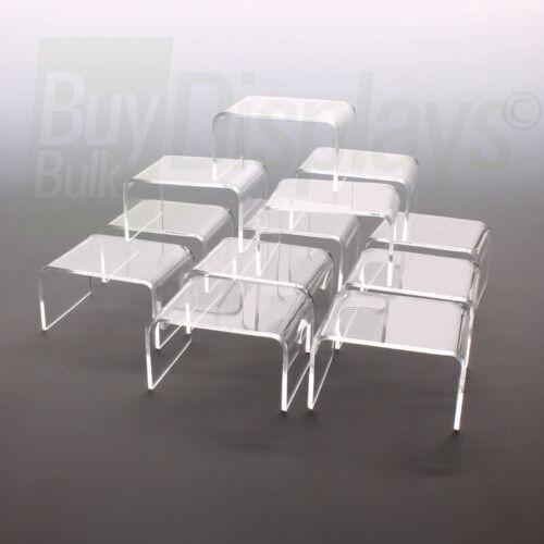 Mini Acrylic Risers, 2-1/4 x 2 x 1-1/2 High, 12 pcs, Made in USA