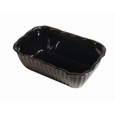 6x Deli Buffet Dish Black Crock Salad Bowl 2.2 L Medium Serving Food Dish SAN