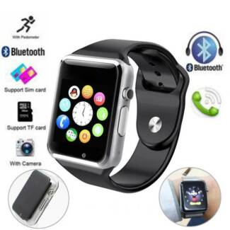 Touch Screen Bluetooth Clock Sync  Smart Watch