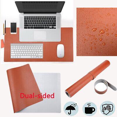 Desk Pad Office Mat 31.5 X 15.7 Pu Leather Blotter Laptop Brown 31.5x15.7