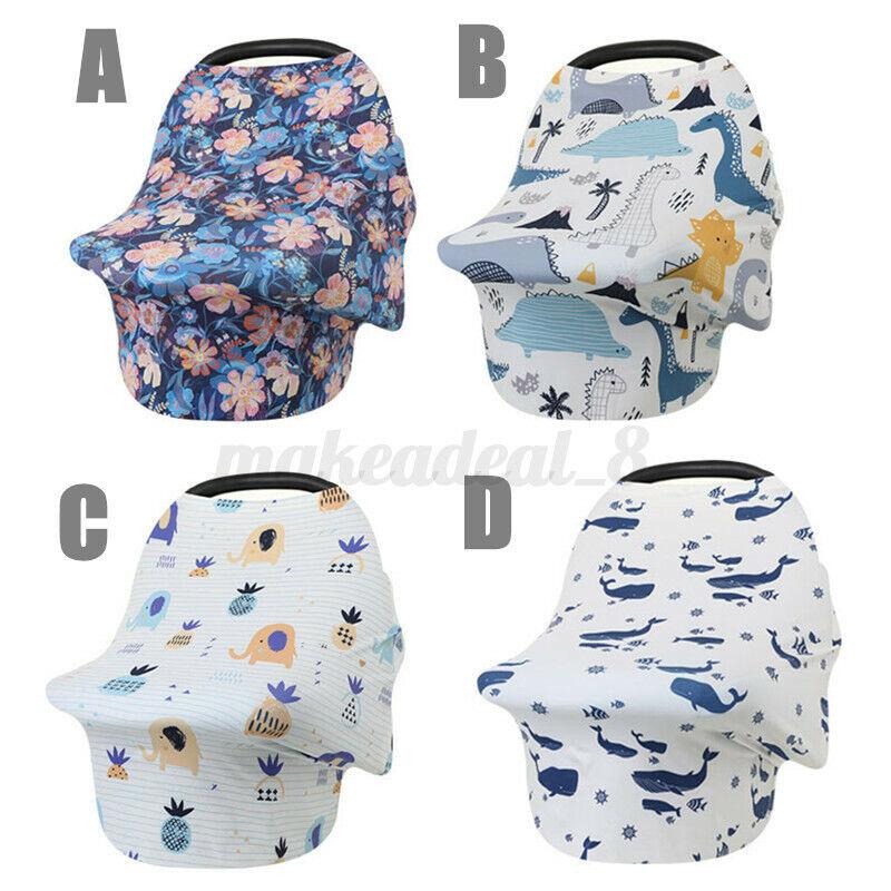 Stretchy Baby Nursing Breastfeeding Cover Scarf Stroller Car Seat Canopy Blanket