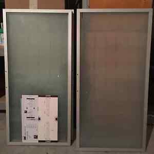 EQ3 Frosted Cabinet doors and hardware - $40 for 4 doors