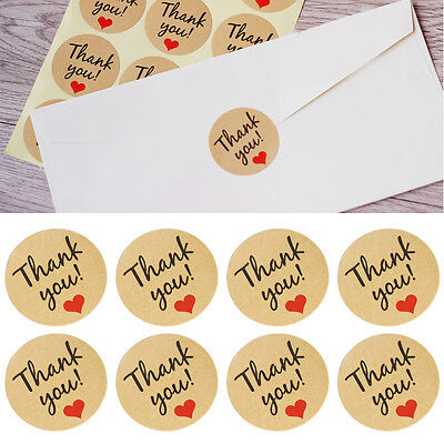 60pcs Thank You Stickers Seal Labels Craft Packaging Seals Kraft Sealing Sticker