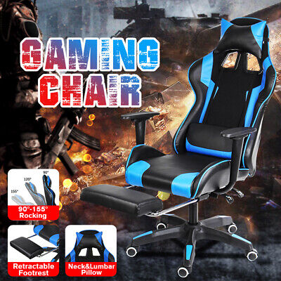 High Back Racing Gaming Chairs Computer Office Chairs Leather Ergonomic Recliner