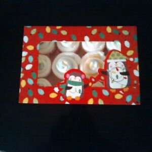 Chistmas diaper cupcakes (boxes of 12)