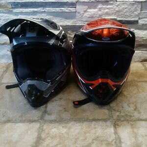 Caque vega gris et casque Bell orange