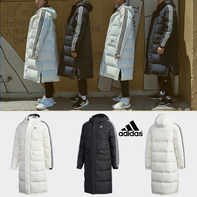 lamentar fricción Perder  Adidas 3STR Winter Hooded Down Jacket Black White DT7921 DT7920 | eBay