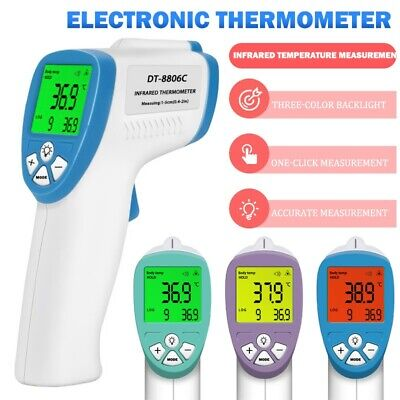 Infrared Forehead Thermometer Digital Lcd Non-contact Baby Adult Temperature Gun