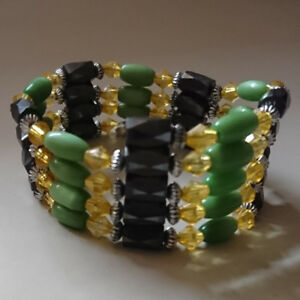 Green Cats Eye Ovals Magnetic Bracelet