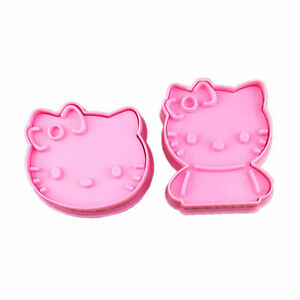 Cute Hello Kitty Cookie Cutter Mold Set (2Pcs)