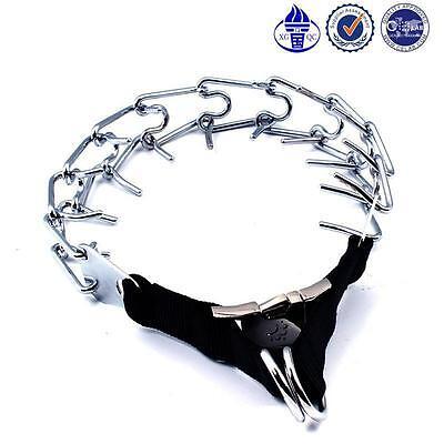 Petholder® Dog Training Chrome Plated Prong Collar Quick Se