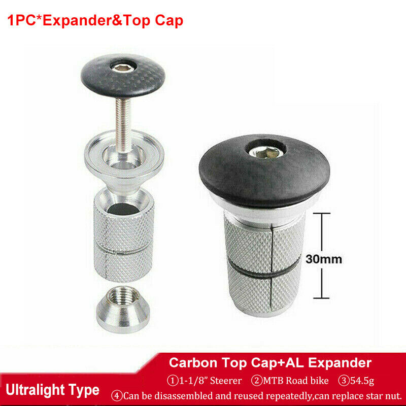 """Aluminum Threadless 1/""""//1-1//8/"""" Road Bike Bicycle Cycling Headset Top Cap Cover"""