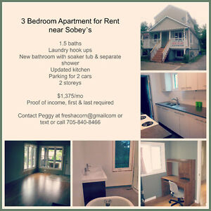 3 Bedroom near Sobey's