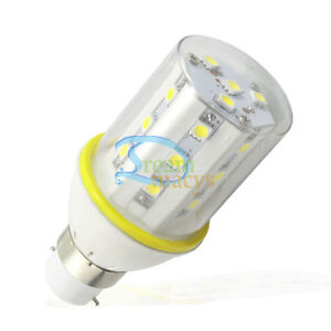 6W B22 White 5050 LED Light Bulb Lamp 220-240V