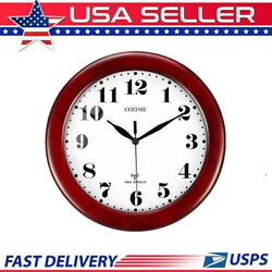 Wine Red Clock Classic 12 Atomic Radio Controlled Wall Clock BGW612-YG US Stock